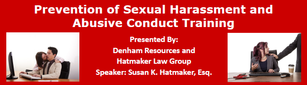Prevention of Sexual Harassment and Abusive Conduct Training